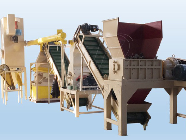 Copper aluminum radiator recycling machine working process