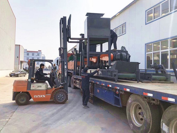 2-3t/h copper aluminum radiator recycling machine was shipped to India