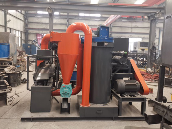 Small type copper cable wire recycling machine was delivered to Greece