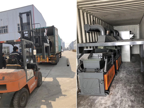 1t/h PCB circuit board recycling machine was transported to South Korea
