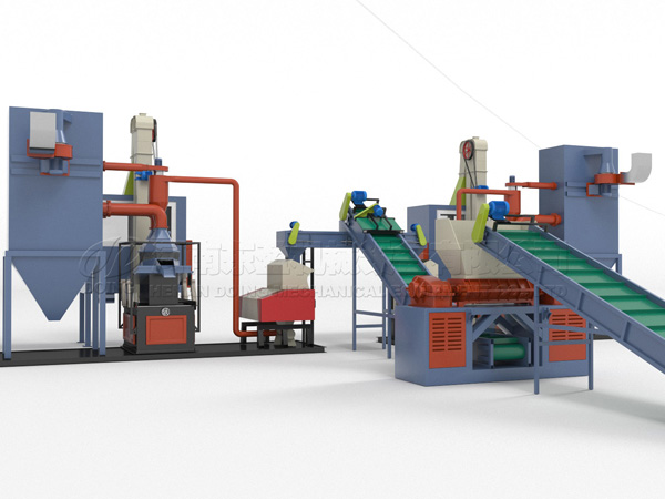 3D video of copper cable wire recycling machine running process
