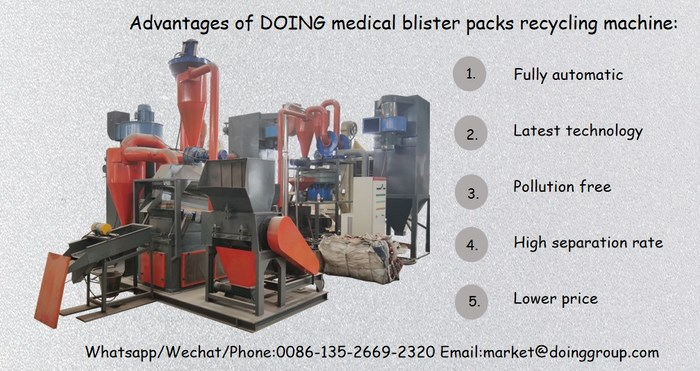 medical blister packs recycling machine