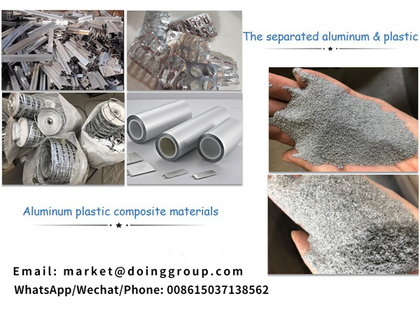 What materials can be recycled by aluminum plastic separation machine?